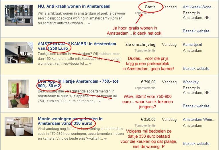 Huis huren amsterdam